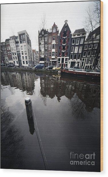 Amsterdam Houses Wood Print