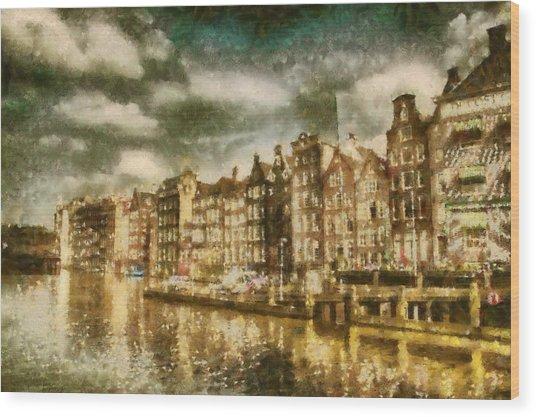 Amsterdam Wood Print by Jose Maqueda