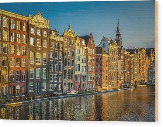 Amsterdam Wood Print by Neah Falco