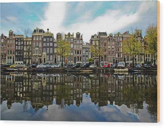 Amsterdam Wood Print by Ruy Barbosa Pinto