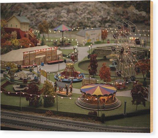Amusement Park Wood Print by Carl Engman