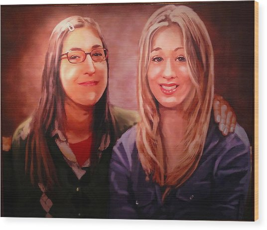 Amy And Penny Wood Print