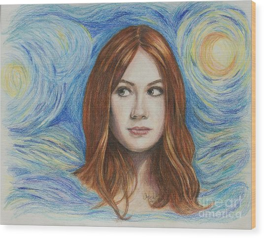 Amy Pond / Karen Gillan Wood Print