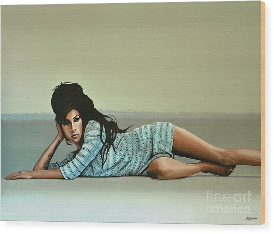 Amy Winehouse 2 Wood Print