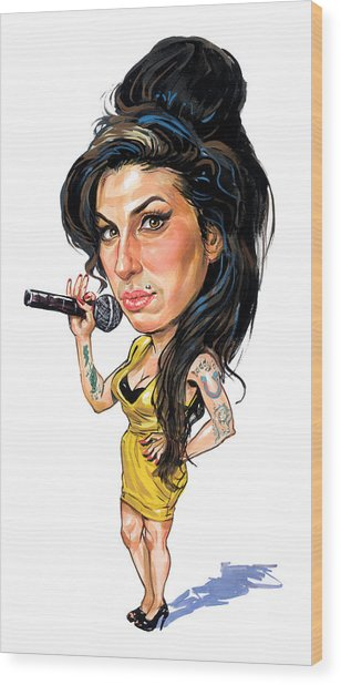 Amy Winehouse Wood Print by Art