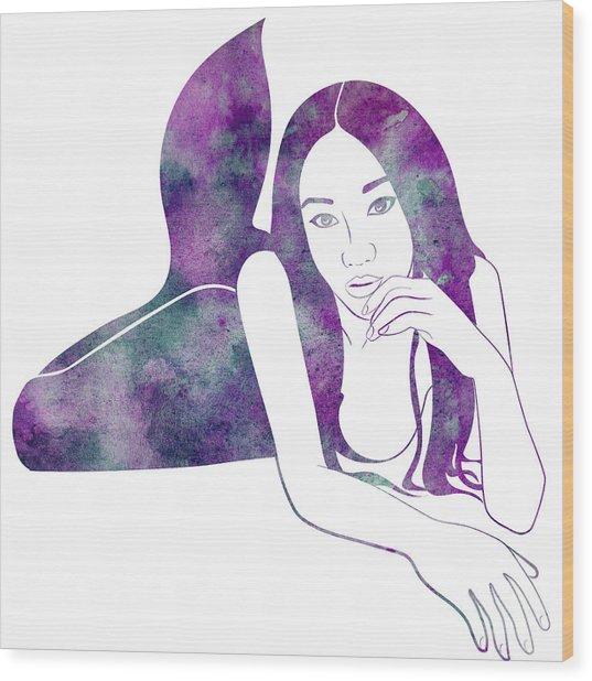 Amythest Mermaid Wood Print
