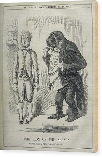 An Alarmed Flunkey Introduces  Mr Wood Print by Mary Evans Picture Library