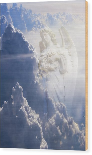 An Angel In The Clouds Wood Print by Jim Zuckerman