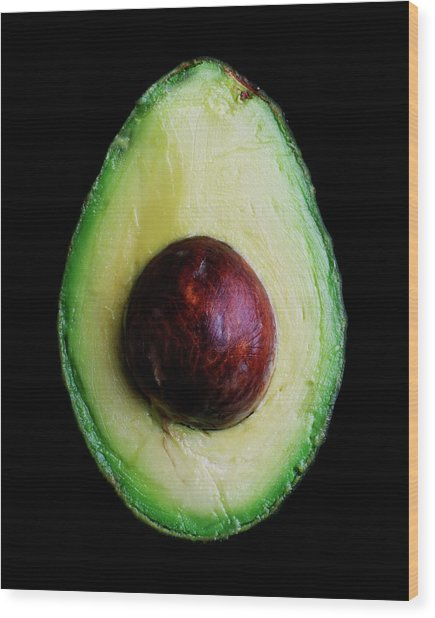 An Avocado Wood Print