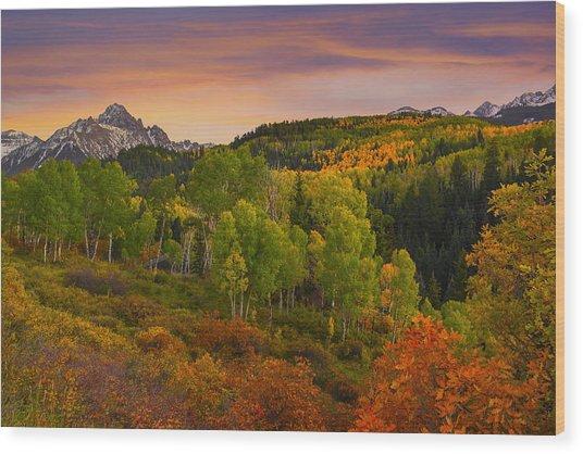 An Early Fall Morning Wood Print