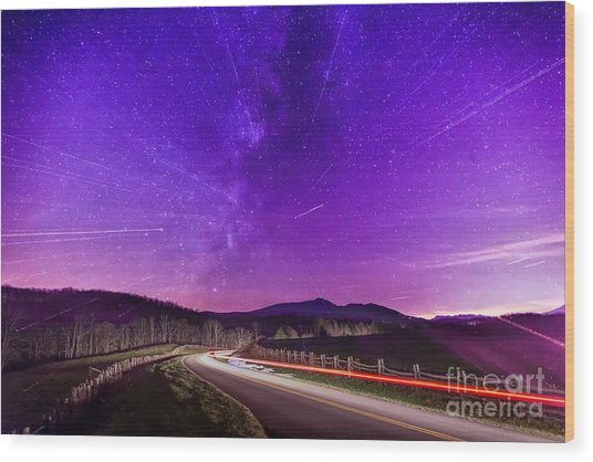 An Explosion In The Milky Way Wood Print