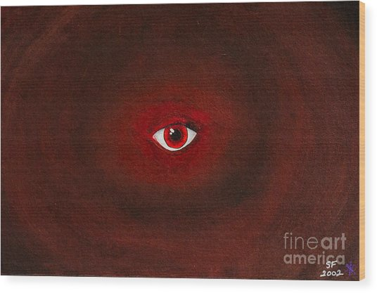 An Eye Is Upon You Wood Print