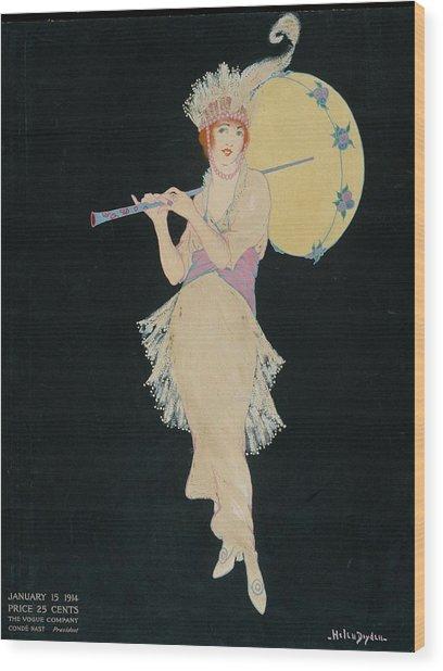 An Illustration For Vogue Magazine Wood Print