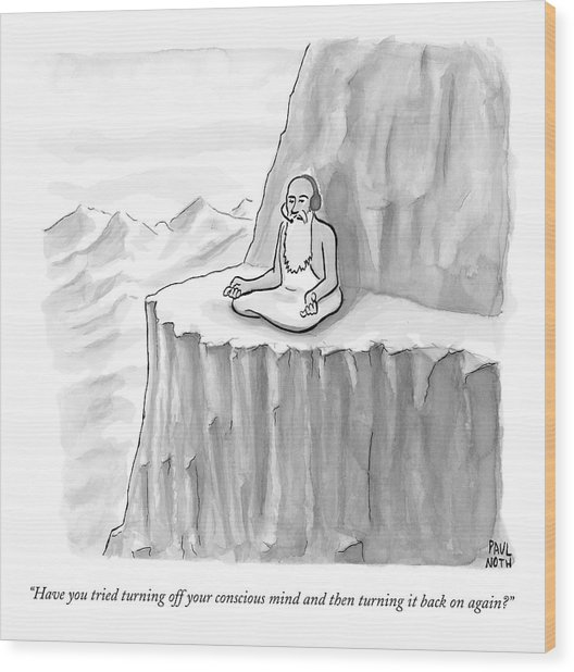 An Old Man Gives Metaphysical Advice Wood Print