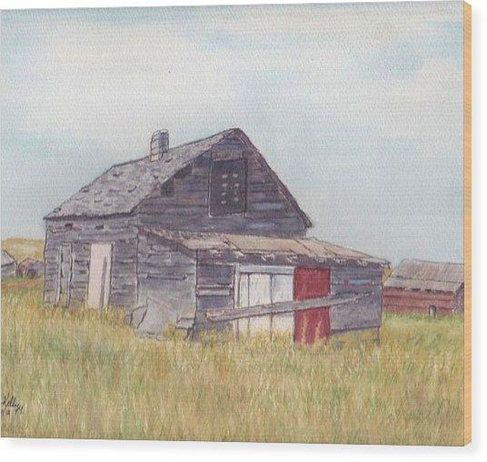 An Old Memory Home In The Grand Prairies Wood Print