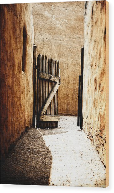 An Open Gate Wood Print