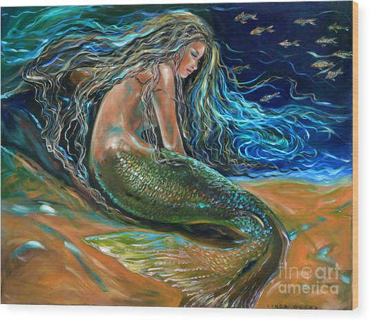 An Undersea Repose Wood Print