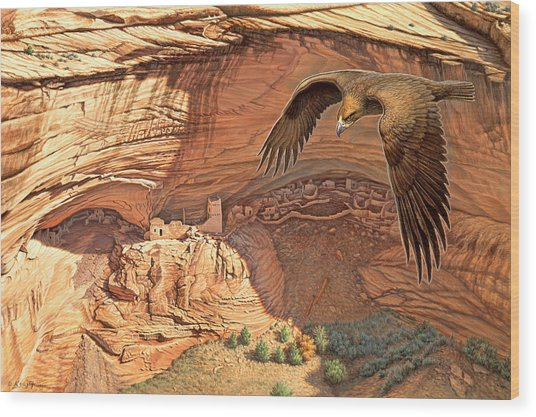 Anasazi - Ancient Ones Wood Print
