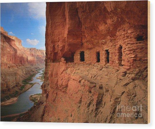 Anasazi Granaries Wood Print