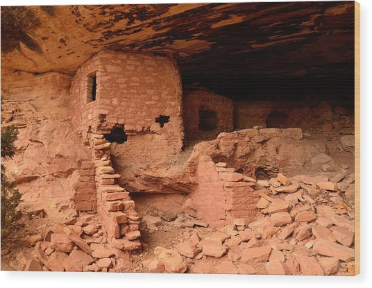 Anasazi Ruins At Comb Ridge Wood Print