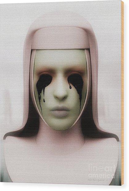 Anathema Wood Print by Sandra Bauser Digital Art