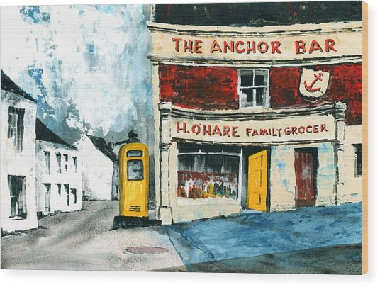 Anchor Bar  Carlingford  Louth Wood Print