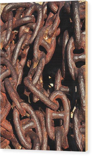 Anchor Chains Wood Print
