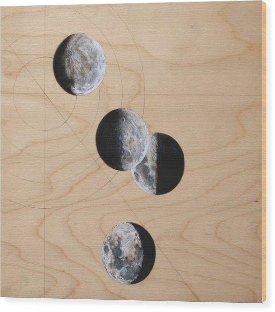 Ancient Circles Wood Print by Stacey Sherman