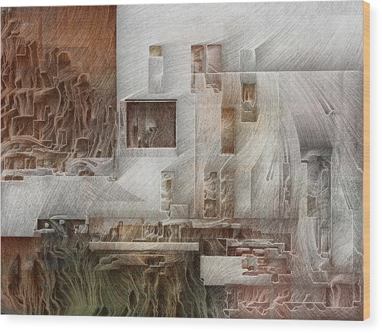 Ancient City 1 Wood Print