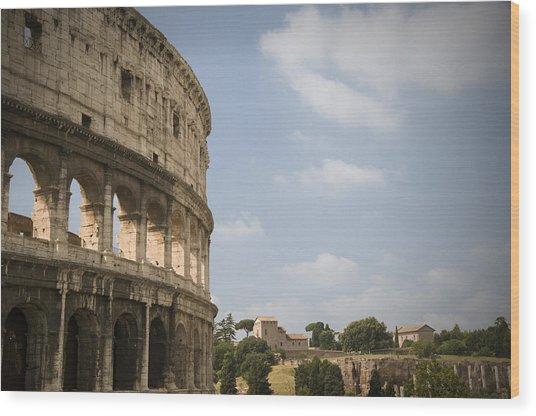 Ancient Colosseum Wood Print