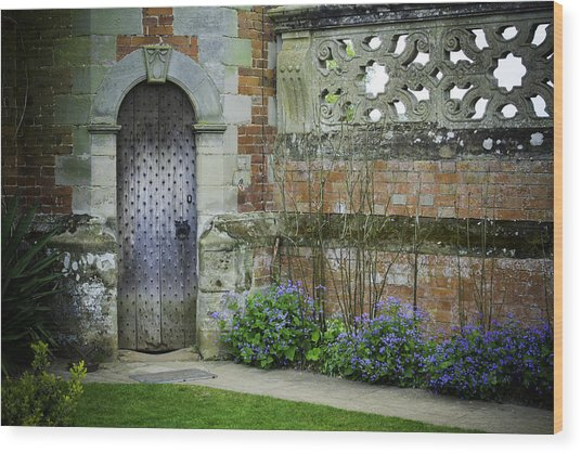 Ancient Door Wood Print by Lesley Rigg