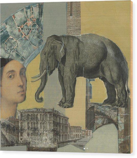 Ancient Elephant Wood Print
