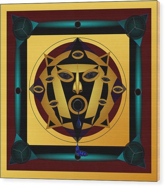 Ancient Eyes Wood Print