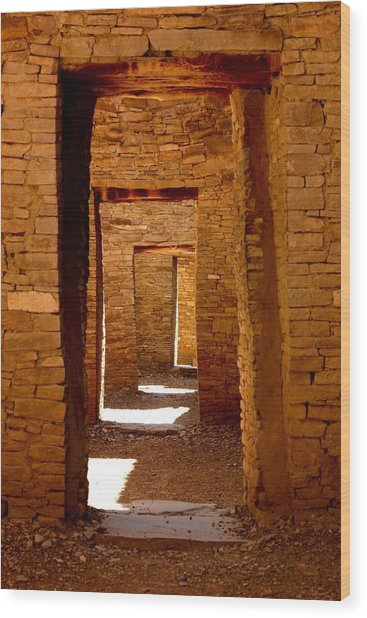Ancient Galleries Wood Print