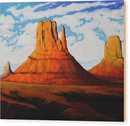 Ancient Land Monument Valley Wood Print by Joe  Triano