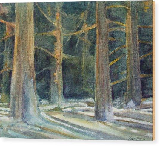 Ancient Light Wood Print