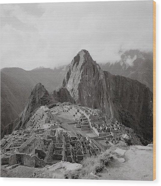 Ancient Machu Picchu Wood Print