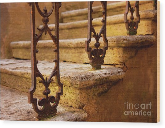 Ancient Steps Wood Print