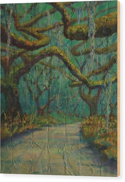 Ancient Tapestry Wood Print