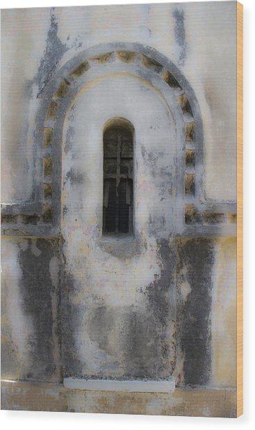 Ancient Window Wood Print