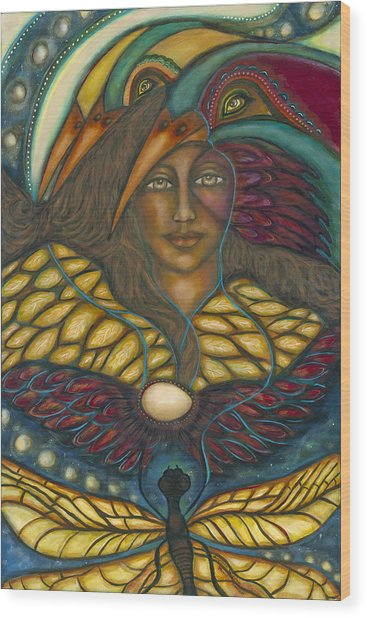 Ancient Wisdom Wood Print by Marie Howell Gallery