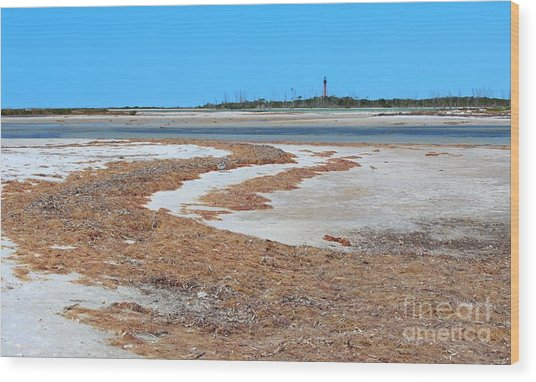 Anclote Key Island Lighthouse Wood Print