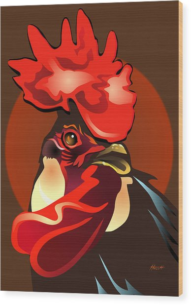Andalusian Rooster The Second Wood Print by Patricia Howitt