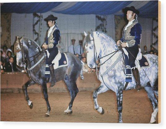 Andalusian Show Horses Wood Print