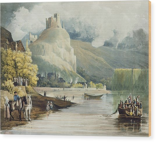Andely, From Views On The Seine Wood Print