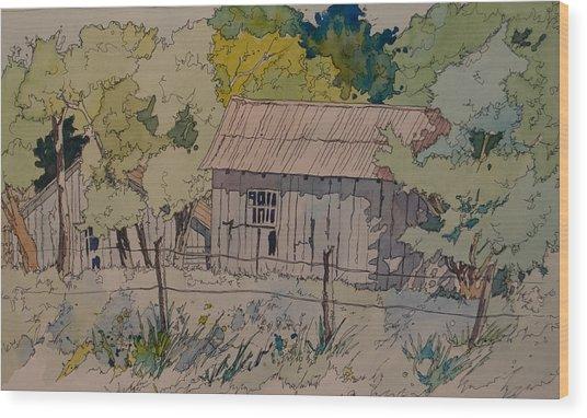 Anderson Barns Wood Print