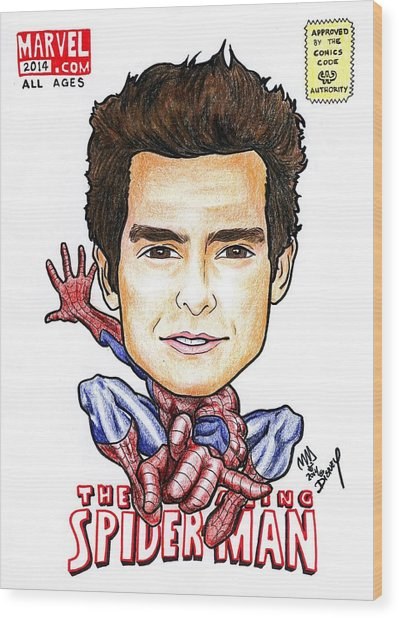 Andrew Garfield - Spiderman Wood Print