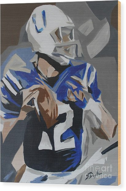 Andrew Luck 2013 Wood Print