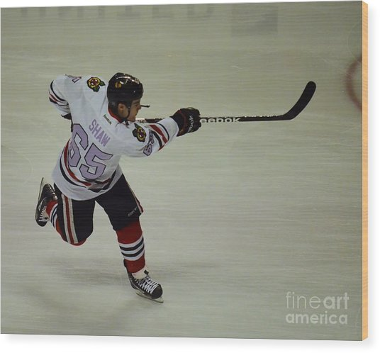Andrew Shaw Fights Cancer Wood Print