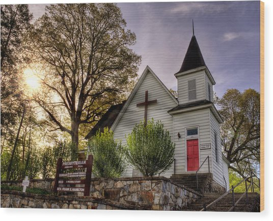 Andrews Presbyterian Church Wood Print